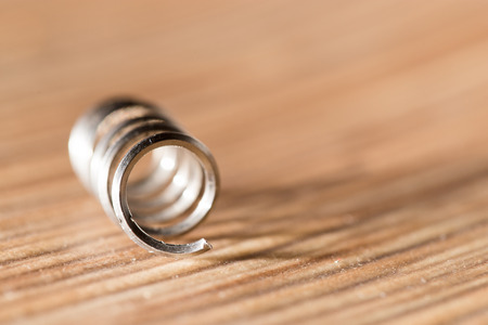 annealed: metal spring. close-up