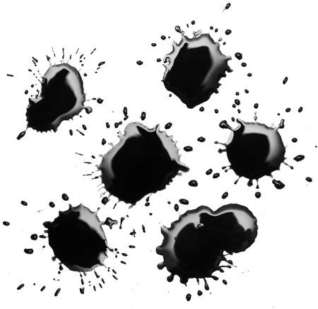 blotch: black spot blotch on white background