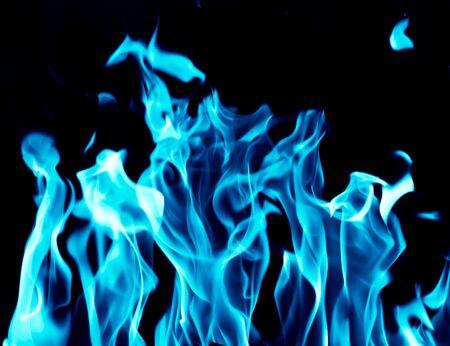 blue flames: Blue flames on a black background
