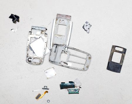 broken cell phone photo