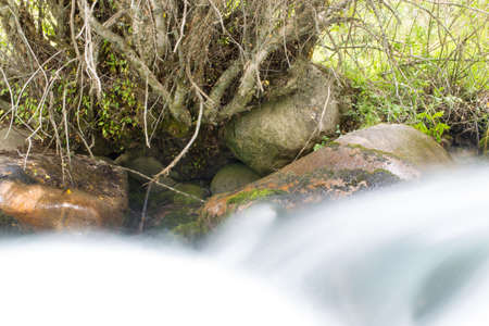 water in the mountain river photo