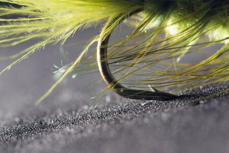 fishhook: fly fishing. close-up