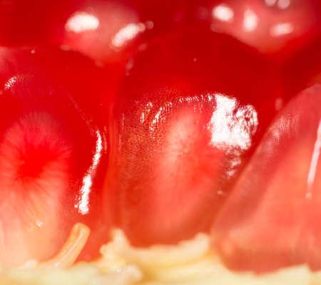 ripe pomegranate. Super Macro Stock Photo