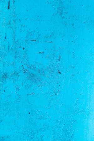 oxidized: background of metal painted blue Stock Photo