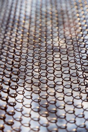 rusty metal mesh photo