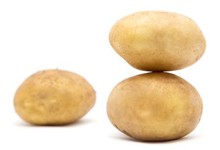 eyespot: potatoes on a white background Stock Photo