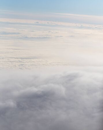 cloud drift: Clouds, a view from airplane window