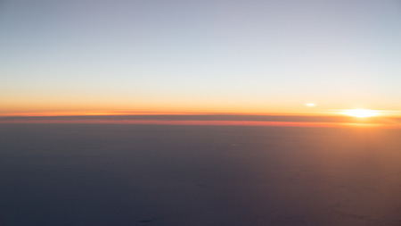 sunset view from the airplane photo