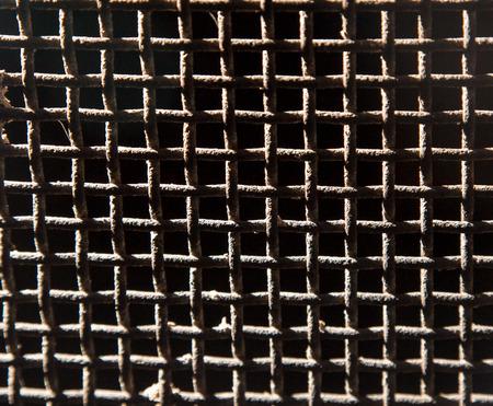 rusty metal: background of old rusty metal mesh