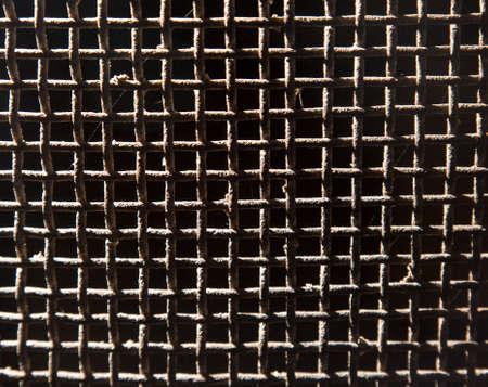 metal mesh: background of old rusty metal mesh