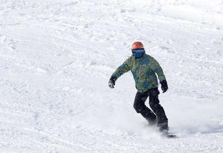 snowboarder: snowboarder rides Stock Photo