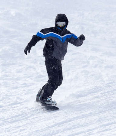 snowboarding: snowboarder snowboarding