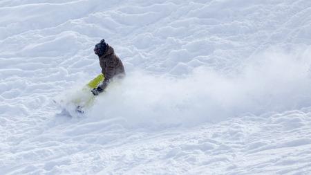 snowboarder: snowboarder snowboarding