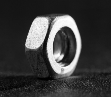 flathead: metal nut Stock Photo