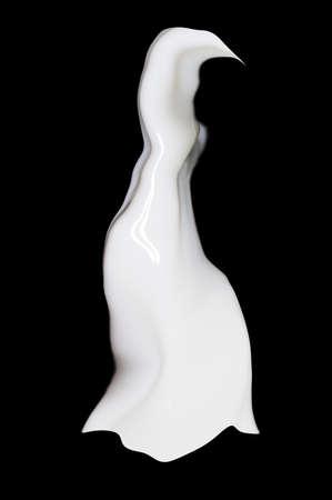spurt: milk on a black background
