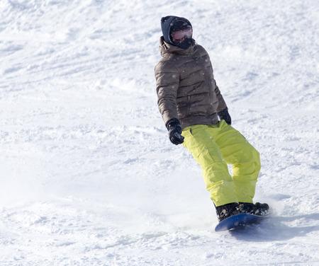 snowboarder: Snowboarder rides