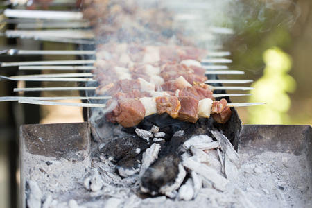 broiling: barbecue on the grill Stock Photo