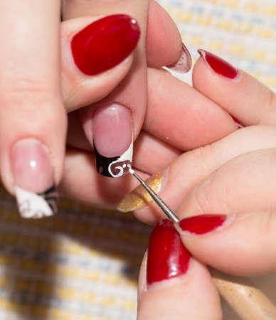 manicure in beauty salon photo