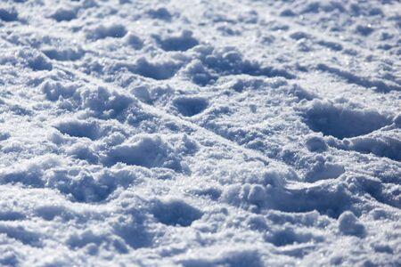 offpiste: Background of off-piste ski slope Stock Photo