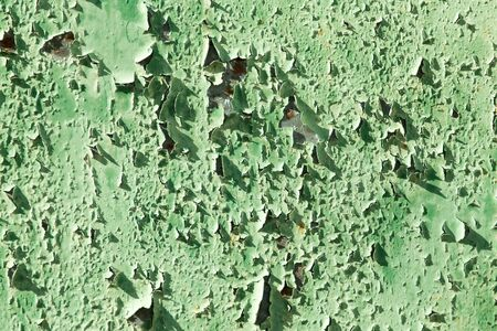 Old of rusty metal painted green Stock Photo