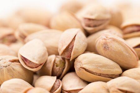 munch: pistachios as a background. close
