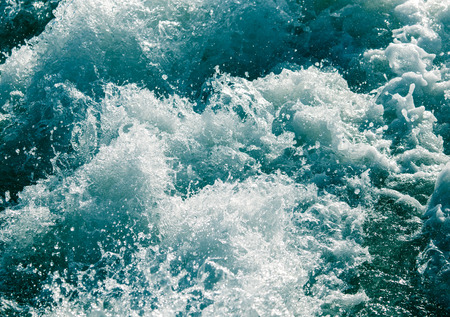 ocean water: rough water in the lake as a backdrop Stock Photo
