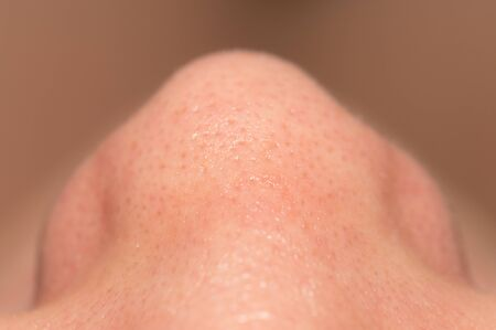 nostril: Womens nose, close-up