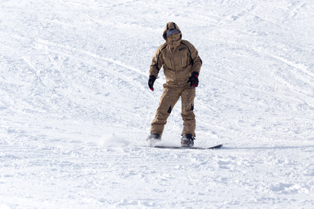 relaxion: Snowboarder rides