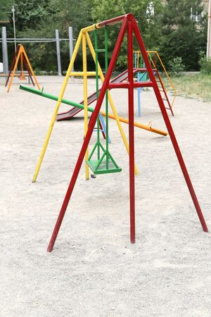 playground equipment: playground with swings