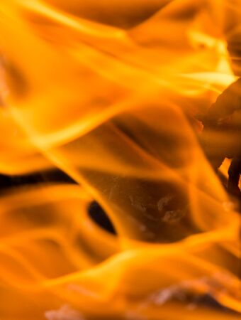 gas fireplace: flames of fire as the background Stock Photo