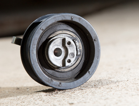 tension: tension roller motor vehicle Stock Photo