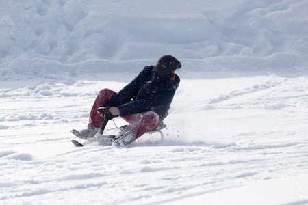 luge: luge sledding Archivio Fotografico