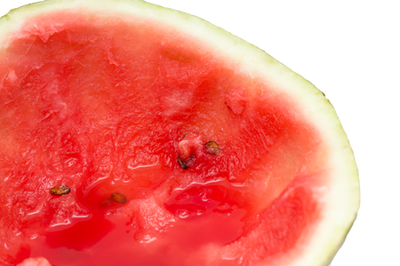 sliced watermelon: sliced watermelon on a white background Stock Photo