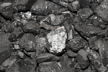 tiled stove: Background of coal Stock Photo