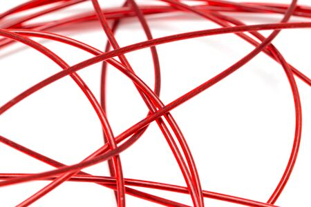 amperage: red wire on a white background