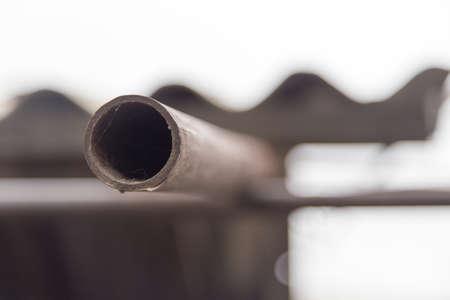 rusty: old rusty pipe