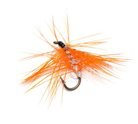 volar: mosca para la pesca en el fondo blanco