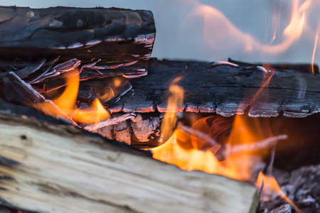 snug: fire wood Stock Photo