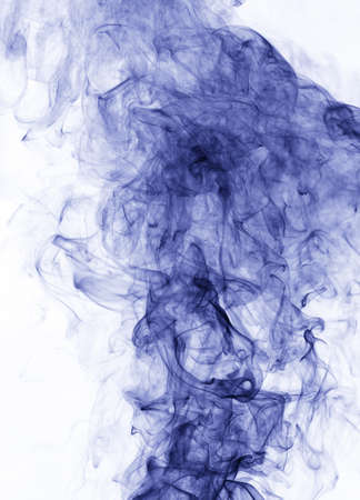 blue grey: blue smoke on a white background. inversion