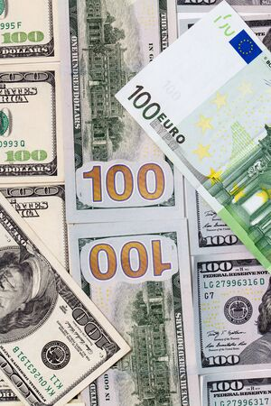 parity: background of the money. Euro and Dollar