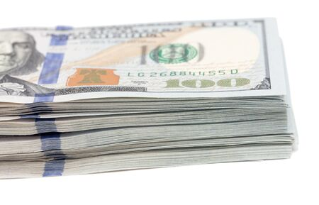 batch of dollars: Dollars on a white background