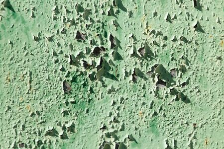 old background of rusty metal painted green Stock Photo