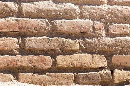 exterior architectural details: background of an old brick wall Stock Photo