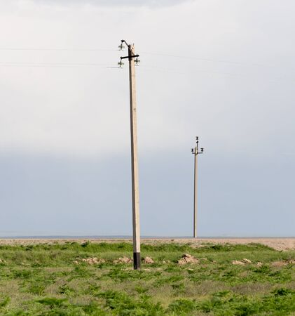 open country: power poles in the desert