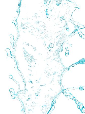 spruzzi d'acqua su sfondo bianco