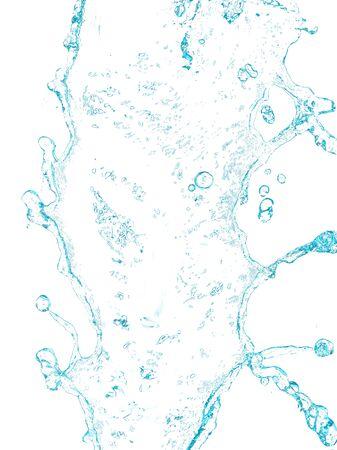 Spruzzi d'acqua su sfondo bianco Archivio Fotografico - 50441215