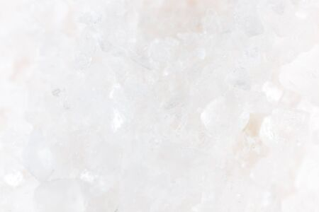 granule: white salt as background