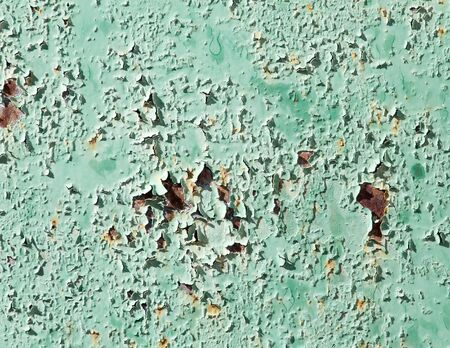rusty metal: old background of rusty metal painted green Stock Photo