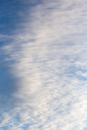 nebulosity: beautiful clouds in the blue sky