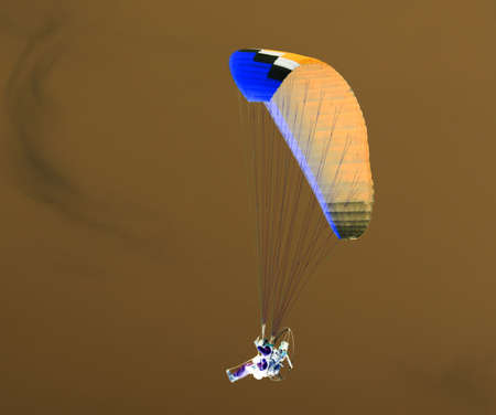 inversion: Parachute in the sky in the inversion